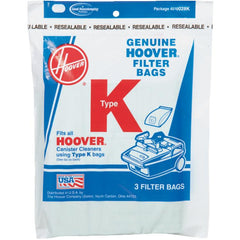 Hoover style K Vacuum Bags (3 pack) Part # 4010028K