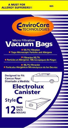 Electrolux / Aerus Canister Style C Vacuum Bags (12 pack)