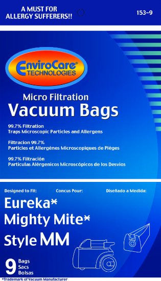 Eureka Style Mm Vacuum Bags 9 Pack Vacuums Unlimited