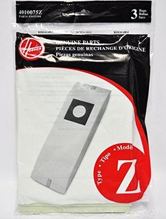 Hoover Z Vacuum Bags (3 pack) Part # 4010075Z