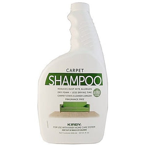 Kirby Carpet Shampoo 32 Oz. Unscented Part # 252703
