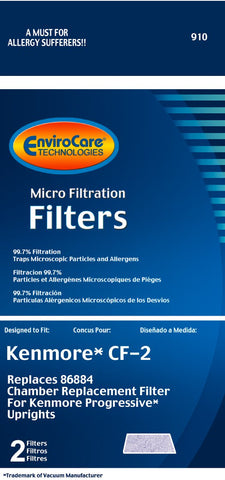 Kenmore CF-2 Foam Filter - 2 pack