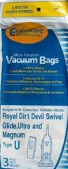 Royal / Dirt Devil type U Vacuum Cleaner Bags - 3 pack