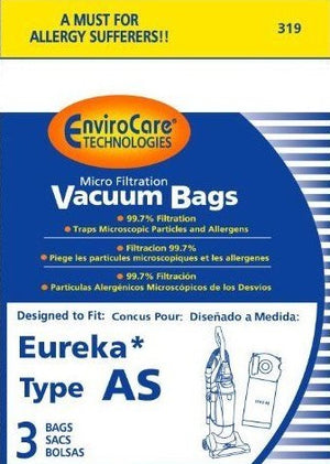 Eureka AS Vacuum Bags - 3 pack