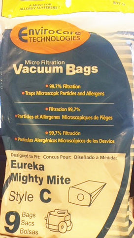 Eureka style C Mighty Mite Vacuum Bags (9 pack) Part # 817-9