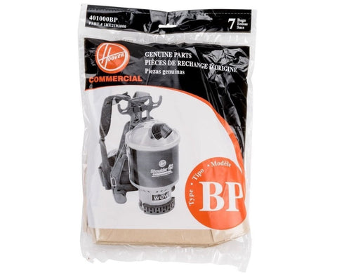 Hoover Type BP Vacuum Bags (7 pack) Part # 401000BP