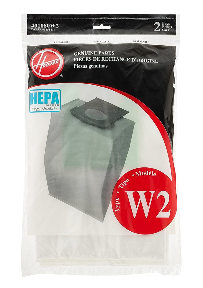 Hoover Type W2 HEPA Bag (2 pack) Part # 401080W2