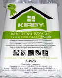 Kirby MicroAllergen Plus HEPA Filter Bags For Avalir & Older (6 pack) Part # 204814G