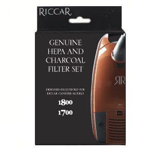 Riccar HEPA Post Filter and Charcoal Vacuum Filter for Immaculate, Impeccable, 1800 and 1700 Canisters, Original Riccar Part # RF17