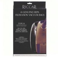 Riccar Type H Canister HEPA Media Vacuum Bags (6 Pack) Part # RHH-6