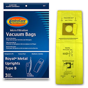 Royal type B vacuum cleaner bags - 3 pack