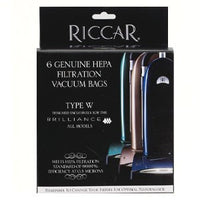 Riccar type W Brilliance HEPA Vacuum Bags (6 Pack) Part # RWH-6