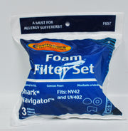 Shark Navigator Vacuum Foam Filter Set - 3 filters