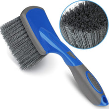 Load image into Gallery viewer, Relentless Drive Wheel Scrub Brush Relentless Drive Car Wheel Brush - Auto Detailing Car Wash Brush, Ergonomic Grip with Long Handle for Tires and Wheels, Wheel Cleaner Brush for Car, Truck, SUV & Motorcycle Tire Shine