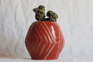 Ceramic Red Diamond Planter