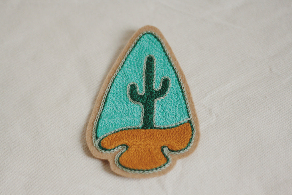 Arrowhead Chain Stitched Patch