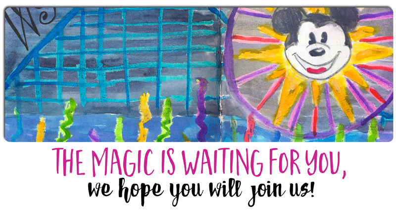 Art Journaling the Magic Live Art Retreat at Disneyland Resort in California 2017