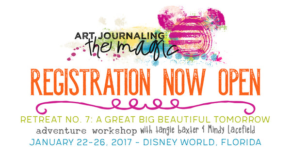 art journal journaling the magic Disney World tangie baxter live 2018