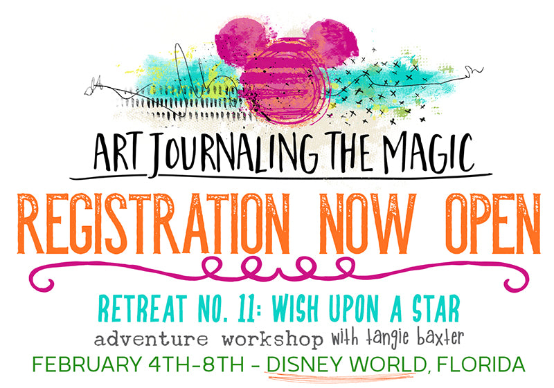 Art Journaling the Magic urban and whimsical sketching workshop Disney World February 2019 with Tangie Baxter