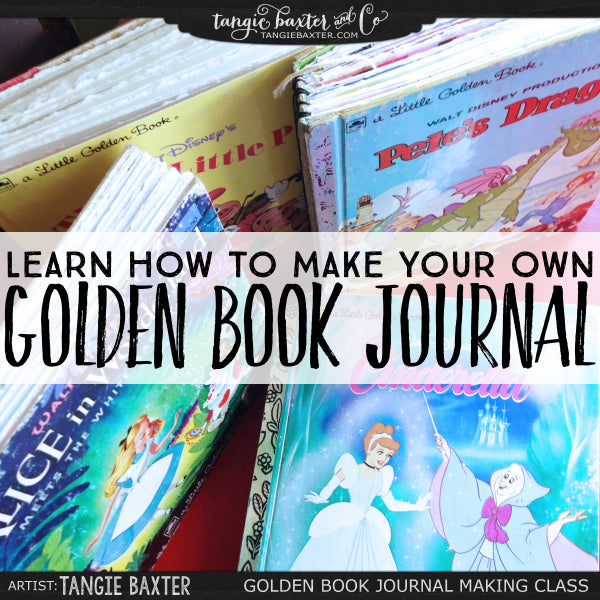 Learn how to make your own Golden Book Journals