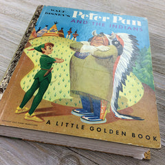 Peter and the Indians (RARE)-Golden Book Journal READY TO SHIP
