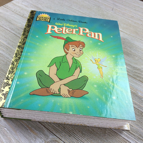 Peter Pan (Vintage) -Golden Book Journal READY TO SHIP