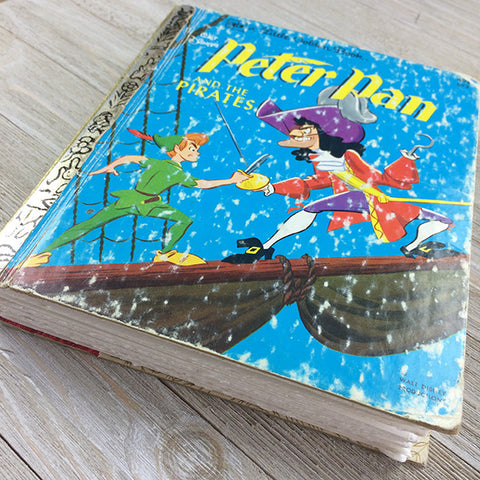 Peter Pan & the Pirates (RARE)-Golden Book Journal READY TO SHIP