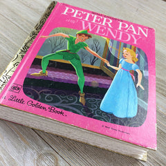 Peter Pan & Wendy (RARE)-Golden Book Journal READY TO SHIP
