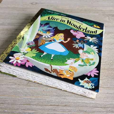 Alice in Wonderland -Golden Book Journal READY TO SHIP