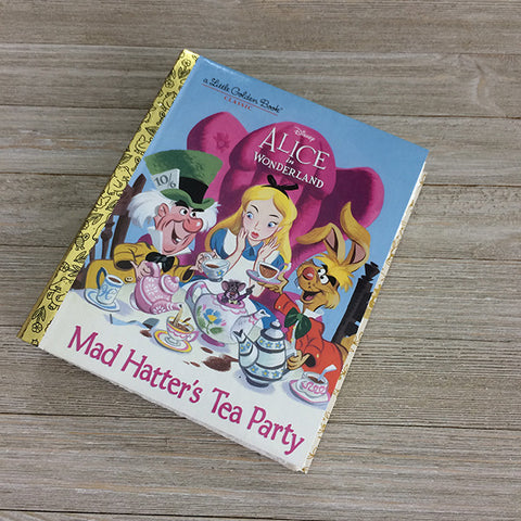Alice-Mad Hatter's Tea Party-Golden Book Journal READY TO SHIP