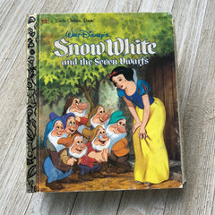 Snow White & the Seven Dwarfs -Golden Book Journal READY TO SHIP
