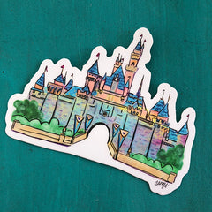 Die Cut Castle Sticker w/ Free Shipping