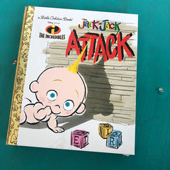 Jack Jack Attack-Golden Book Journal READY TO SHIP