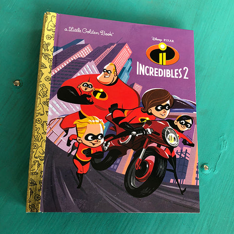 Incredibles 2 -Golden Book Journal READY TO SHIP