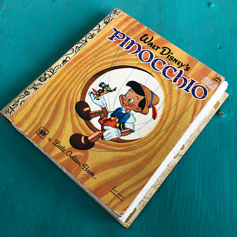 Pinocchio -Golden Book Journal READY TO SHIP