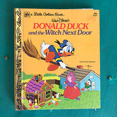 [Halloween] Donald Duck and the Witch Next Door -Golden Book Journal READY TO SHIP