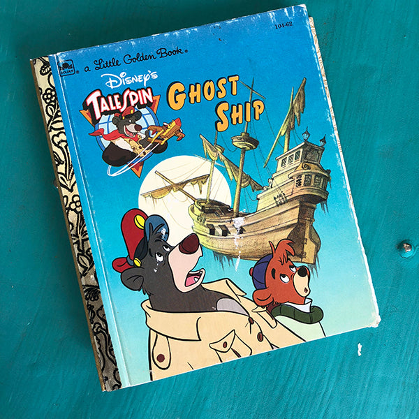 TaleSpin Ghost Ship -Golden Book Journal READY TO SHIP