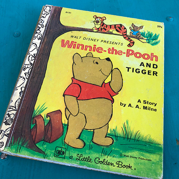 Winnie-the-Pooh & Tigger (59)-Golden Book Journal READY TO SHIP