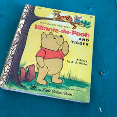 Winnie-the-Pooh & Tigger (69)-Golden Book Journal READY TO SHIP