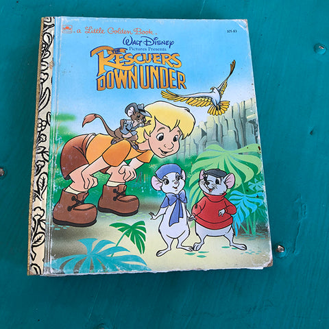 Rescuers Down Under-Golden Book Journal READY TO SHIP