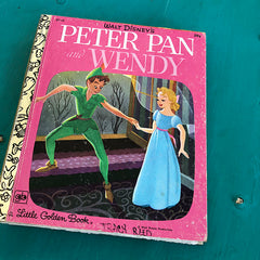 Peter Pan and Wendy (Vintage)-Golden Book Journal READY TO SHIP