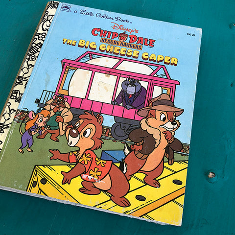 Chip 'n Dale Recsue Rangers the Big Cheese Caper-Golden Book Journal READY TO SHIP