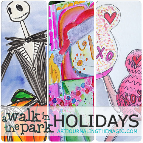 [Holiday Bundle] A Walk in the Park Online Sketchbook Adventure & Tour {Self-Study}