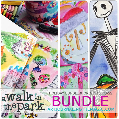 [Ultimate Bundle] A Walk in the Park Online Sketchbook Adventure & Tour {Self-Study}