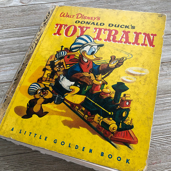 Donald Duck's Toy Train [Vintage]-Golden Book Journal READY TO SHIP