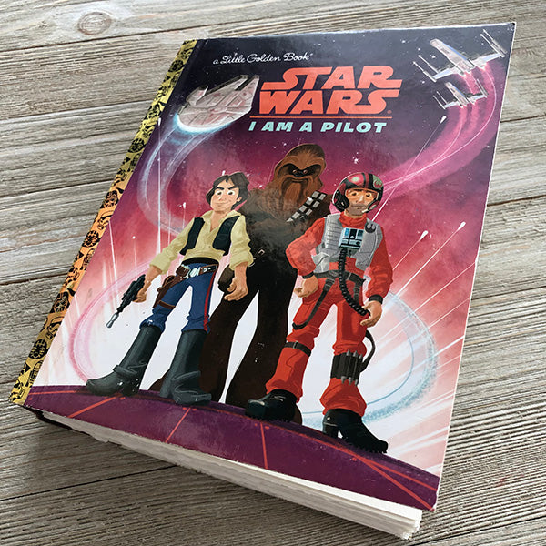 Star Wars-I am a Pilot-Golden Book Journal READY TO SHIP