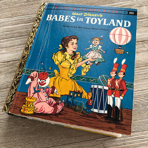 Babes in Toyland (Vintage Rare)-Golden Book Journal READY TO SHIP