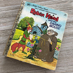 Robin Hood and the Daring Mouse (Extremely Rare Vintage) -Golden Book Journal READY TO SHIP
