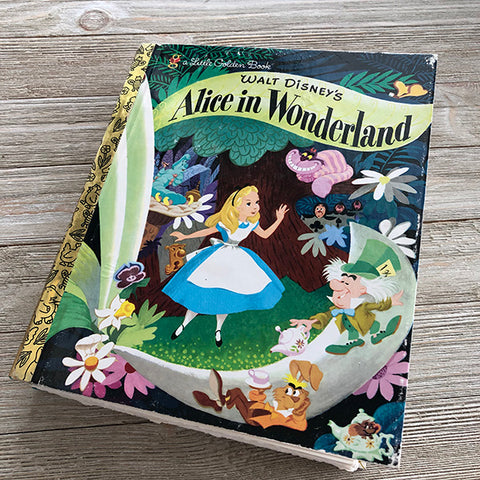 Alice in Wonderland Journal 21-Golden Book Journal READY TO SHIP