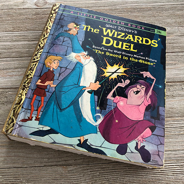 The Wizards' Duel Sword in the Stone (Extremely Rare Vintage) -Golden Book Journal READY TO SHIP